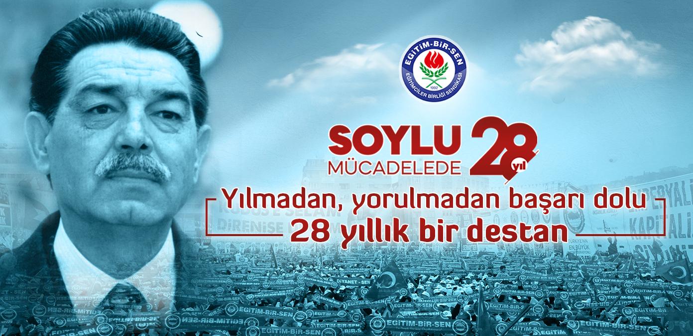 SOYLU MÜCADELEDE 28.YIL